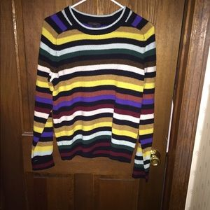 J Crew Supersoft Wool Sweater in Multi-Stripe